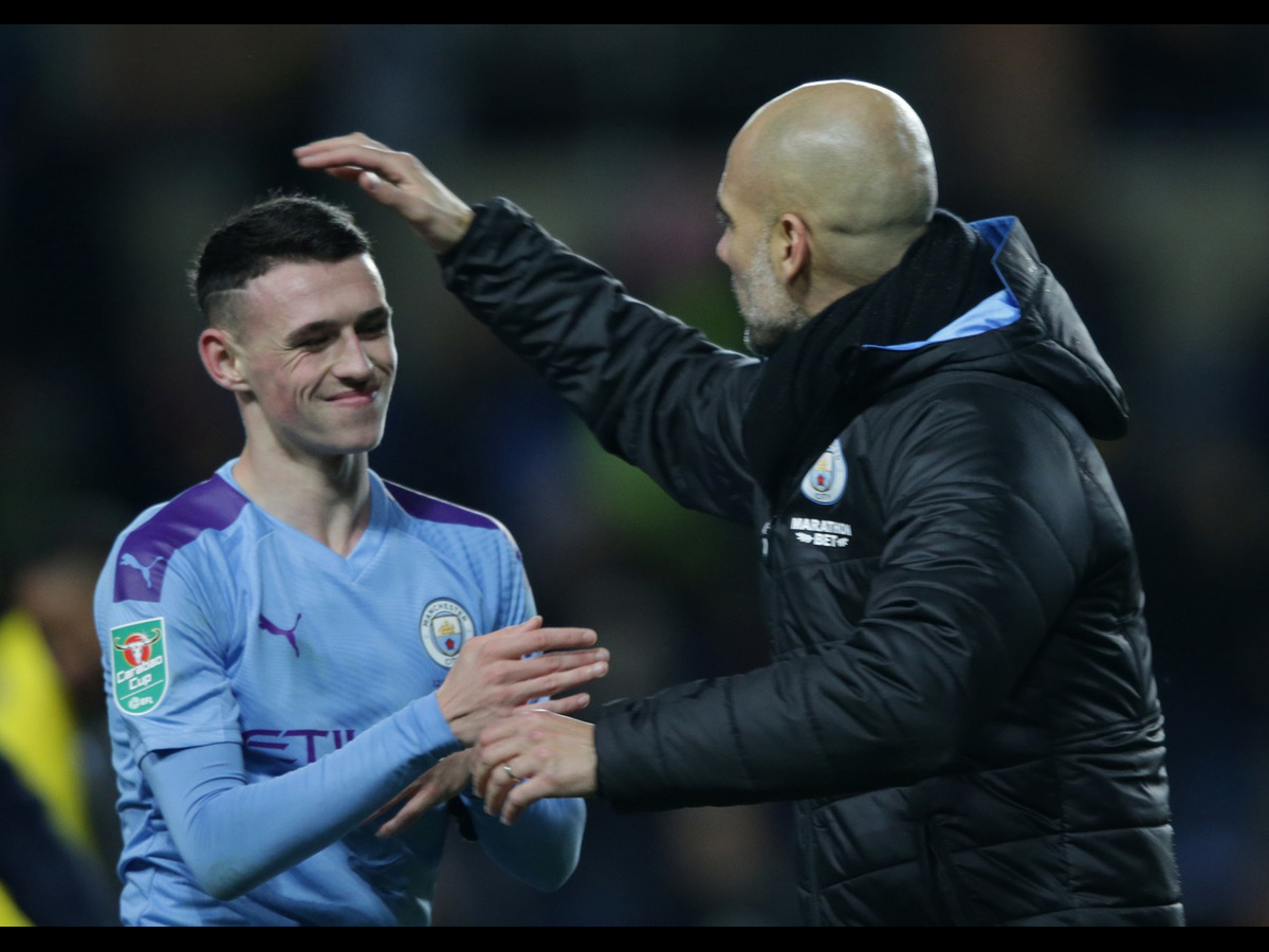 Image result for Phil Foden pep